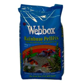 Webbox Rainbow Pellets KOI CARP & All Pond Fish Food