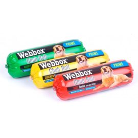 Webbox Chub Rolls Wet Moist Dog Food - Assorted