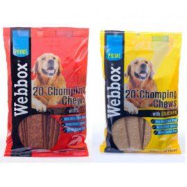 Webbox Chomping Chews Chews Dog Treat (12 x Packs)