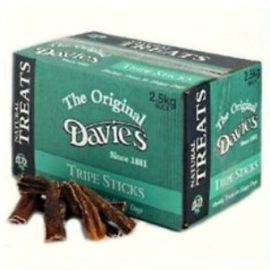 2.5kg Davies Tripe Sticks Natural Dog Treat & Chew Reward
