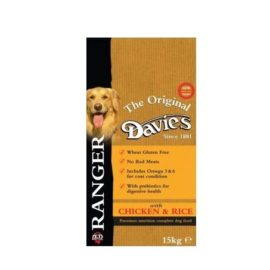 15kg Davies Ranger Complete Hypo-Allergenic Dry Dog Food Chicken