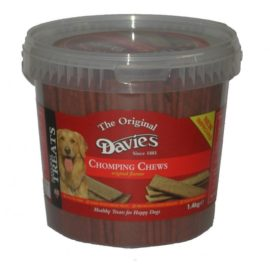 Davies Chomping Chomp Chews Dog Treat Reward 1.4kg Tub Beef