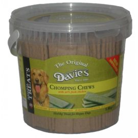 Davies Chomping Chomp Chews Dog Treat Reward 1.4kg Tub Chicken