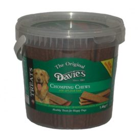 Davies Chomping Chomp Chews Dog Treat Reward 1.4kg Tub Lamb