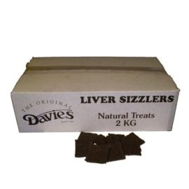 2kg Davies Dried Chewy Liver Sizzlers Natural Dog Treat Chew
