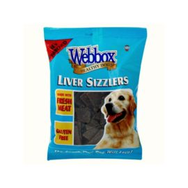 Webbox Liver Sizzlers Dog Treats 150g Bag